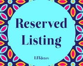 Reserved Listing for Donna