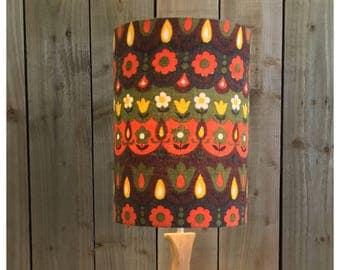 Extra Tall Vintage Retro 70s Scandi Syle Fabric Lamp Shade Light Shade