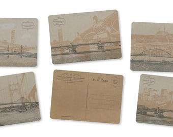 ON SALE!! - Portland, Oregon Bridge Postcard Series - Set of 5 Cards