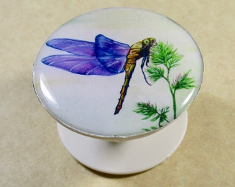 Dragonfly Phone Grip, Dragonfly Gifts, Dragonfly Phone Accessories, Gift with Dragonfly, Outlander Fan Gifts, Dragonfly Cell Phone Grip
