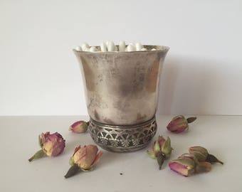 Antique French Silver Plated Baby Cup,Baby Tumbler, French Christening Gift