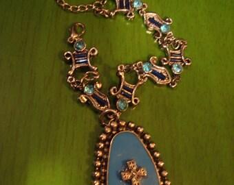 Vintage Handcrafted Turquoise Pendant Bracelet