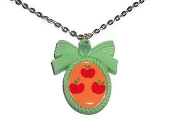 Applejack Cutie Mark Necklace, Friendship is Magic, Kawaii Cameo Necklace