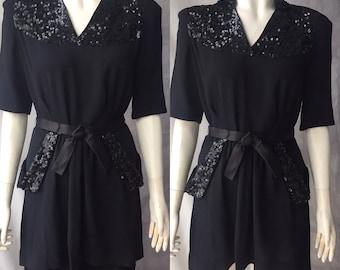 1940s sequin tunic blouse dress