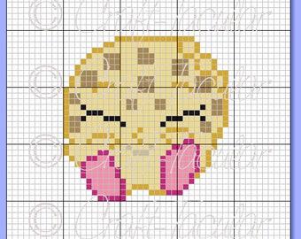 Kooky Cookie Shopkins Graphgan Graph Pattern C2C, Perler Bead