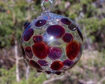 OOAK Hand blown Borosilicate Glass Christmas ornament 213