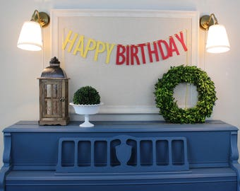 Happy Birthday Banner - Choose Your Color - 3.5 Feet - 5.25 inch Letters