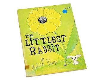 "Vintage 1961 ""The Littlest Rabbit"" Paperback Illustrated Children's Book by Robert Kraus"