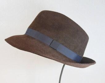 Classic Men's Fedora in Brown ~ Frank ~ teardrop, classic menswear ~ handmade by Bonnet, your local Portland millinery