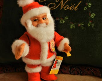 """Steiff Santa Claus Christmas Decor Character Doll Replica Toy Collectible of Vintage 1953  Mint Condition ALL  IDs  Jointed  8"""" Tall"""