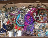 Large Lot of Jewelry Destash Religious Pins Chains Rings Pendants Crafts Necklaces Bracelets Repair Parts  6.4 Ibs