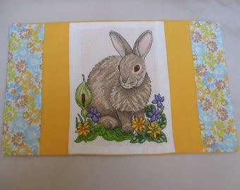 rabbit cross stitch cushion cover