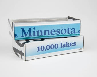 Minnesota license plate box - father's day gift - gift for mom's dad's and grad's - teacher gift - graduation gift - graduation gift box