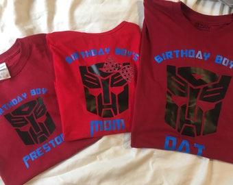 Transformer's Birthday Shirts