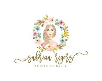Premade Portrait Photography Logo and Watermark,  Girl Character Logo Design, Fashion Photography Logo, Blog Profile Image, Avatar Logo 417
