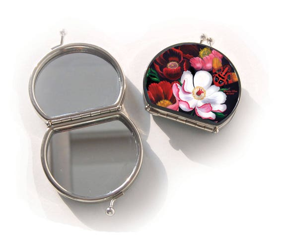 Retro mirror, Glorious, birthday gift, gift for her, gifts for mom, Woody Ellen handbag, Compact mirror, christmas gift ideas,new years gift