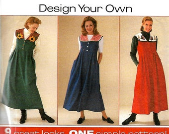 Simplicity 7316 Design Your Own Jumper With Detachable Collar Sewing Pattern, 6-10 & 12-16, UNCUT