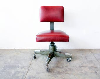 1960s Office Task Chair, Reupholstered