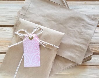 "20 kraft bags - 5 x 7.5"" inches - brown kraft bags"