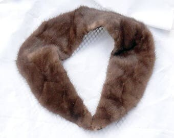 Vintage Mink Collar Lined with Clasp