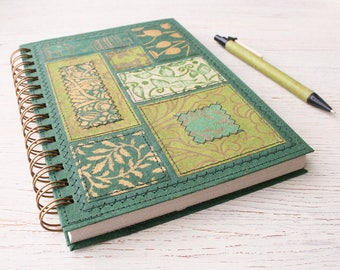 Dot Grid Notebook A5 green / recycled dot grid notebook / recycled journal / garden journal / travel journal / botanical notebook