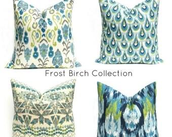 15% Off Sale Decorative pillows Throw Pillow Covers - Pillows - Pillow covers - Blue Green Pillow - Blue Pillows - Cushion Covers - Pillow C