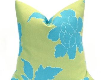 15% Off Sale Outdoor Pillow  Green Pillow - Blue Pillow ,Outdoor Pillow Cover - Green outdoor Pillow - Blue outdoor pillow - Outdoor Decor -