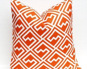 15% Off Sale PILLOWS, Throw pillow Cover Orange Pillow, Orange pillow cover, Decorative pillow orange, toss pillow, couch pillow, modern ora