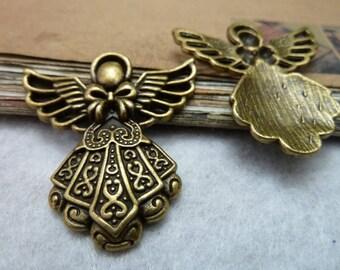antique bronze  plating  angel  pendant finding
