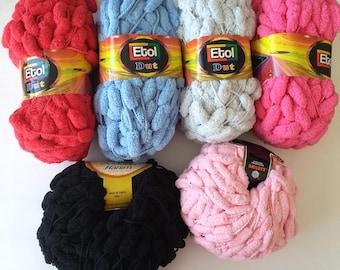 SALE pom pom yarn pon pon yarn, Puff Ball Pom Pom Yarn, pon pon pompom ponpon yarns on sale
