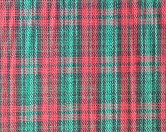 Red and Green Plaid, decorator weight, 60 inch width yardage