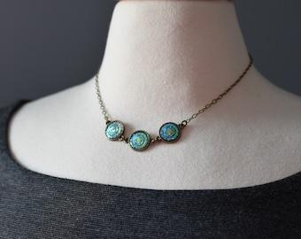 Coin Necklace, Boho Jewelry, Bohemian Jewelry, Rainbow Necklace