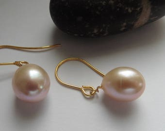 Pearl Earrings Pearl Earrings Pearl Lavender mauve pink Bridal jewelry wedding jewelry