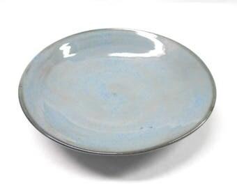 Pottery Pasta Serving Bowl Ceramic Bowl, Pasta Bowl Pasta Serving Bowl Serving Bowl Pottery Fruit Bowl Medium in Blue and Black