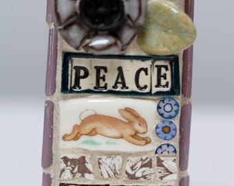 PEACE, mosaic wall art, gift, mosaic, mosaic art