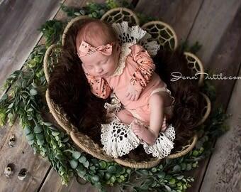 Newborn photo prop, Baby photo prop, Newborn romper, Baby romper, newborn baby romper, long sleeve romper, baby romper set, newborn