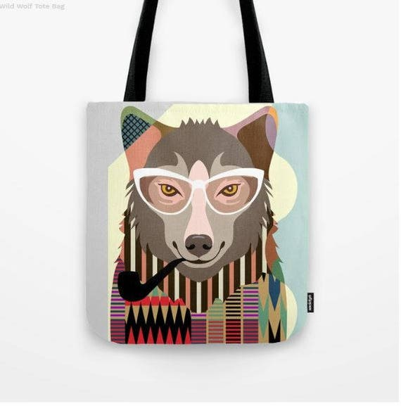 Wolf Tote Bag, Wolf Gifts, Wolf Bag, Animal Tote Decorative  Wolf  Lovers Gift Tote Bag, Animal Lovers Gift, Wolf Accessories