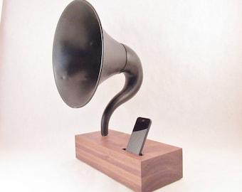Acoustic Speaker, iPhone Speaker, Gramophone Speaker, Passive Speaker, Portable Speaker, Music Player, Vintage Speaker, Speaker