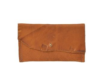 Leather Wallet, Leather Pouch, Mini Wallet, Minimal Wallet, Foil Monogram