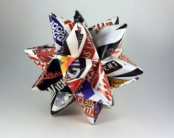 Large Origami Star with Broadway logos, Broadway Musicals Ornament, Broadway Decoration