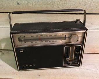 Vintage Panasonic Radio Model RF-930 AM/FM Black Leather Bound Radio