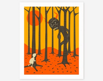 STRANGERS (Giclée Fine Art Print, Photo Print or Poster Print) Surreal Art by Jazzberry Blue
