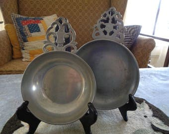 Antique Pewter Porringers