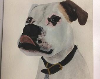 Custom Painted Pet Greeting Card
