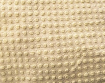 Vintage Yellow Dot Chenille Bedspread Fat Quarter