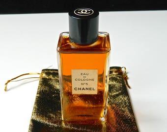 Vintage Chanel No 5 Perfume Eau de Cologne 2 oz Perfect Untouched Now Discontinued Gift Bag