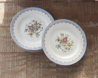 Antique C Ahrenfeldt Limoges France Depose Bread and Butter Plates Set of 4 Dessert Plates Ca 1918 Signed and Dated