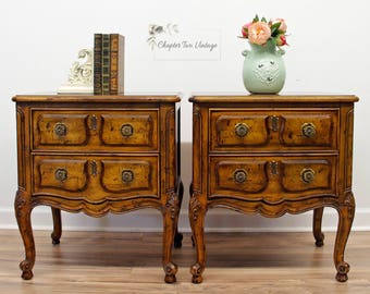 French Nightstands Etsy - French country nightstand