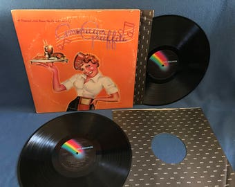 "Vintage ""American Graffiti"", Original Soundtrack, Vinyl 2 LP, Record Album, Beach Boys, Chuck Berry, Fats Domino, The Platters, Buddy Holly"