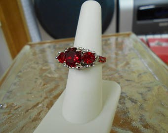 Stunning Victorian Red Ring-Size 7 3/4-R705